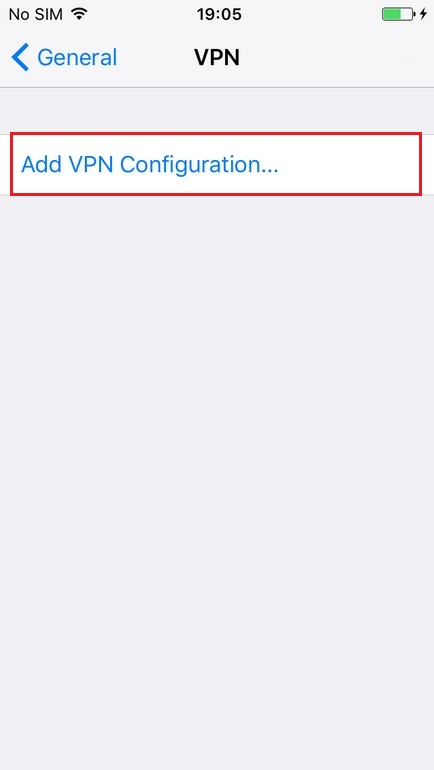 Configure VPN L2TP in iPhone. Step 4.