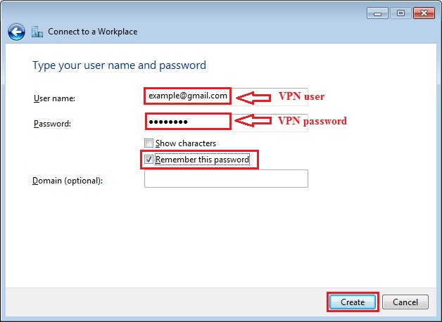 Configure VPN PPTP in Windows 7. Step 8.