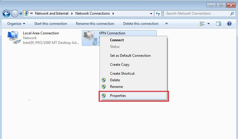 Configure VPN PPTP in Windows 7. Step 11.